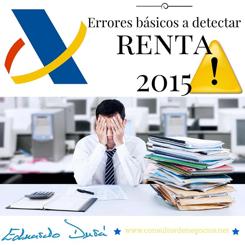 Renta 2015 Errores básicos
