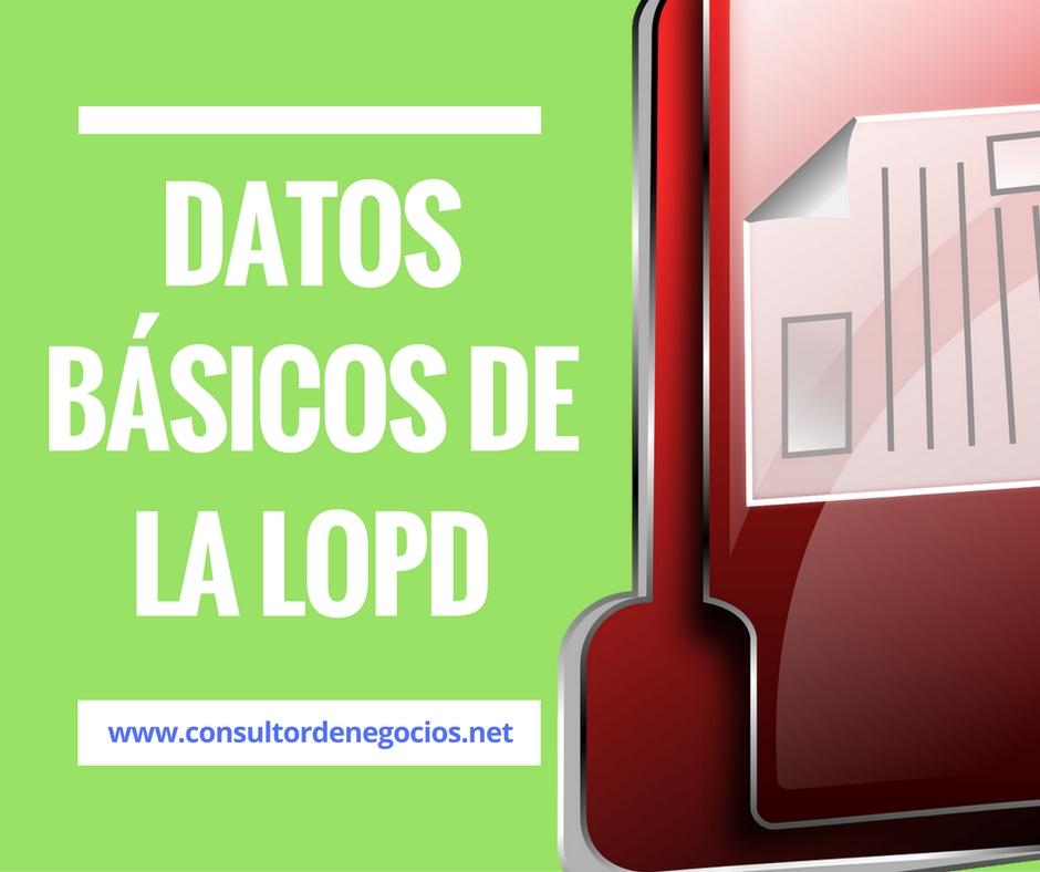datos basicos de la LOPD