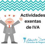 ¿Hay actividades exentas de IVA?