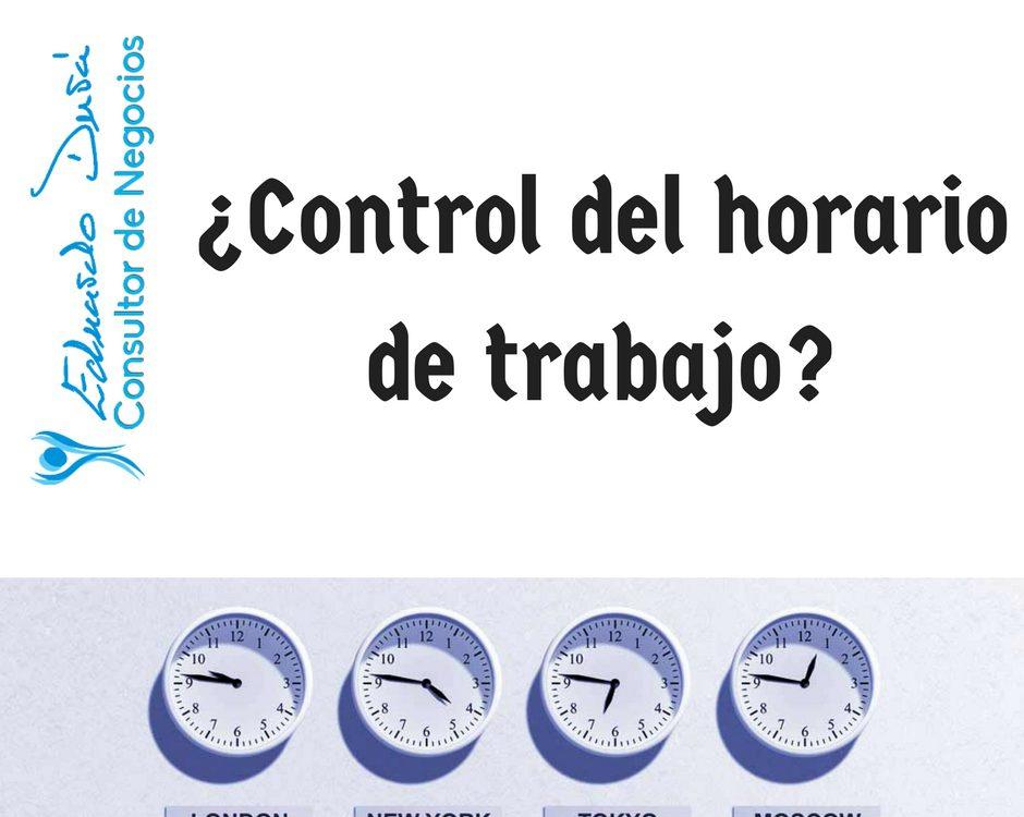 ¿Control del horario de trabajo-
